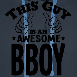 this guy is an awesome bboy - Men's Premium Hoodie