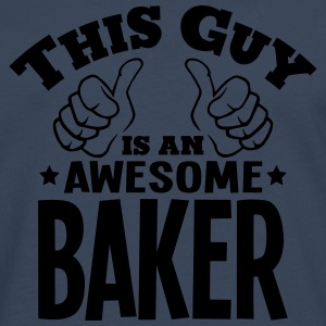 this guy is an awesome baker - Men's Premium Longsleeve Shirt