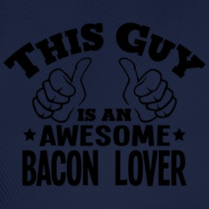 this guy is an awesome bacon lover - Baseball Cap