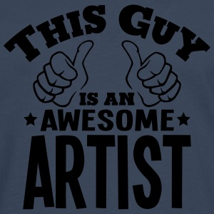 this guy is an awesome artist - Men's Premium Longsleeve Shirt