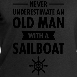 Never Underestimate An Old Man With A Sailboat Tee shirts - Sweat-shirt Homme Stanley & Stella