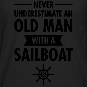 Never Underestimate An Old Man With A Sailboat T-shirts - Mannen Premium shirt met lange mouwen