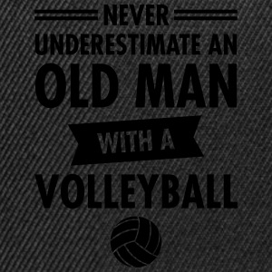 Old Man - Volleyball Magliette - Snapback Cap