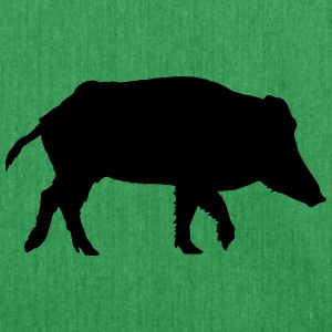 Wild boar T-Shirts - Shoulder Bag made from recycled material