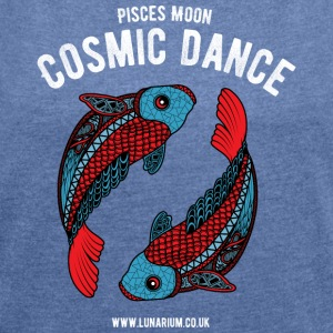 Pisces Moon Women's Sweatshirt by Stanley & Stel - Women's T-shirt with rolled up sleeves