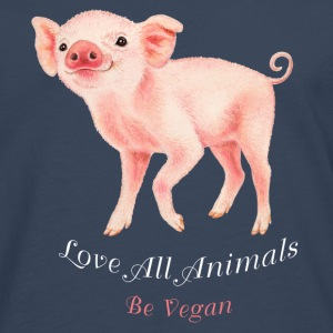 Love all animals. Be vegan. - Mannen Premium shirt met lange mouwen