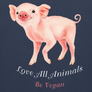 Love all animals. Be vegan. - Mannen Premium tank top