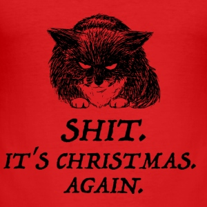 bad cat christmas Sweat-shirts - Tee shirt près du corps Homme