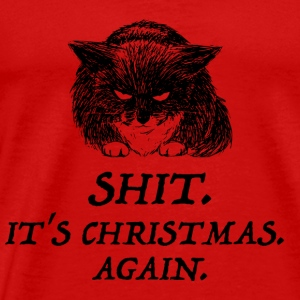 bad cat christmas Langarmshirts - Männer Premium T-Shirt
