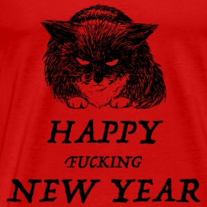 bad cat new year Manches longues - T-shirt Premium Homme