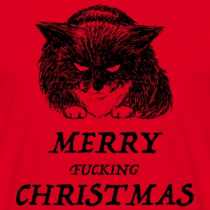 bad cat merry christmas Sweat-shirts - T-shirt Homme