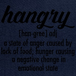 Hangry  Definition Tee shirts - Casquette snapback