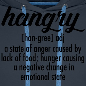 Hangry  Definition T-skjorter - Premium hettegenser for menn