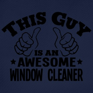 this guy is an awesome window cleaner - Baseball Cap