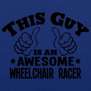 this guy is an awesome wheelchair racer - Tote Bag