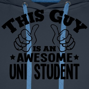 this guy is an awesome uni student - Men's Premium Hoodie
