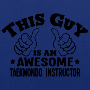 this guy is an awesome taekwondo instruc - Tote Bag