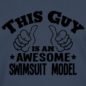 this guy is an awesome swimsuit model - Men's Premium Longsleeve Shirt