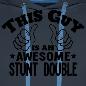 this guy is an awesome stunt double - Men's Premium Hoodie