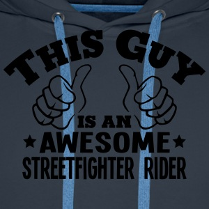 this guy is an awesome streetfighter rid - Men's Premium Hoodie