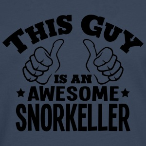 this guy is an awesome snorkeller - Men's Premium Longsleeve Shirt