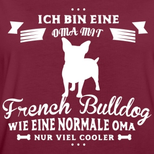 Oma mit French Bulldog Pullover & Hoodies - Frauen Oversize T-Shirt