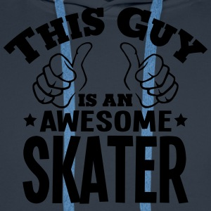 this guy is an awesome skater - Men's Premium Hoodie