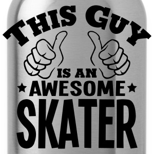 this guy is an awesome skater - Water Bottle