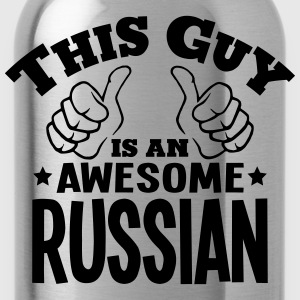 this guy is an awesome russian - Water Bottle