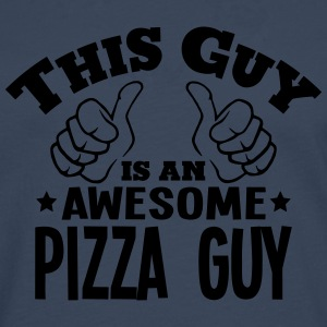 this guy is an awesome pizza guy - Men's Premium Longsleeve Shirt