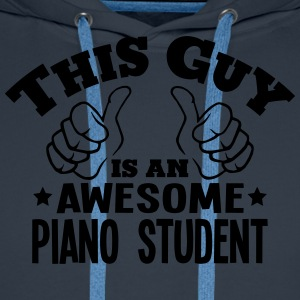 this guy is an awesome piano student - Men's Premium Hoodie