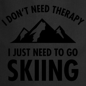 Therapy - Skiing T-Shirts - Cooking Apron
