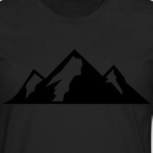 Mountain Icon T-shirts - Herre premium T-shirt med lange ærmer