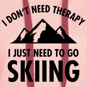 Therapy - Skiing Tee shirts - Sweat-shirt à capuche Premium pour femmes