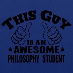 this guy is an awesome philosophy studen - Tote Bag