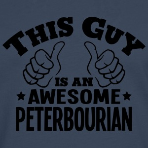 this guy is an awesome peterbourian - Men's Premium Longsleeve Shirt