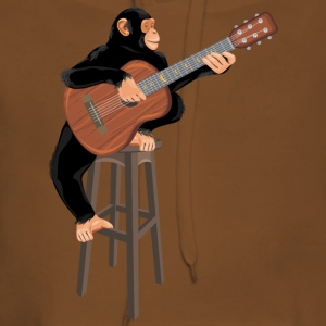 Monkey with acoustic guitar - Women's Premium Hoodie