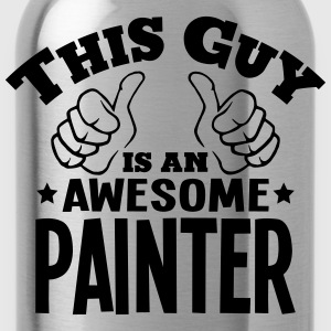 this guy is an awesome painter - Water Bottle