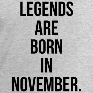 Legends are born in November T-shirts - Mannen sweatshirt van Stanley & Stella