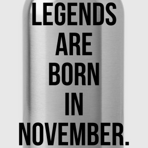 Legends are born in November T-Shirts - Water Bottle