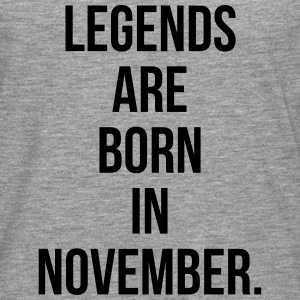 Legends are born in November Tee shirts - T-shirt manches longues Premium Homme