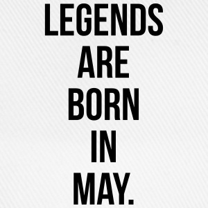 Legends are born in May Sweaters - Baseballcap