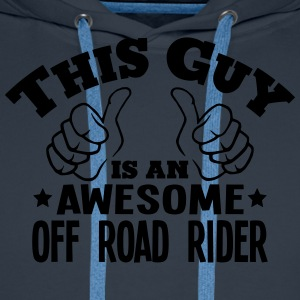 this guy is an awesome off road rider - Men's Premium Hoodie