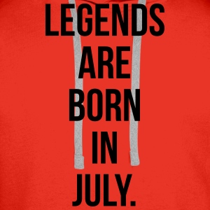 Legends are born in july T-shirts - Mannen Premium hoodie