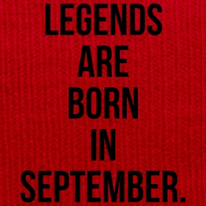 Legends are born in september T-shirts - Wintermuts