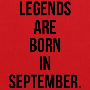 Legends are born in september T-shirts - Tas van stof