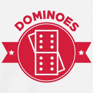 Domino / Dominoes / Game / Gamer / Puzzle  Aprons - Men's Premium T-Shirt