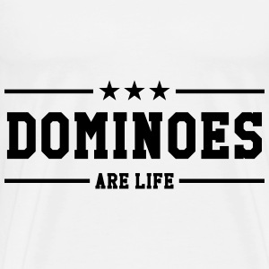 Domino / Dominoes / Game / Gamer / Puzzle Baby Bodysuits - Men's Premium T-Shirt