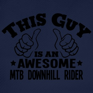 this guy is an awesome mtb downhill ride - Baseball Cap