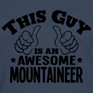 this guy is an awesome mountaineer - Men's Premium Longsleeve Shirt